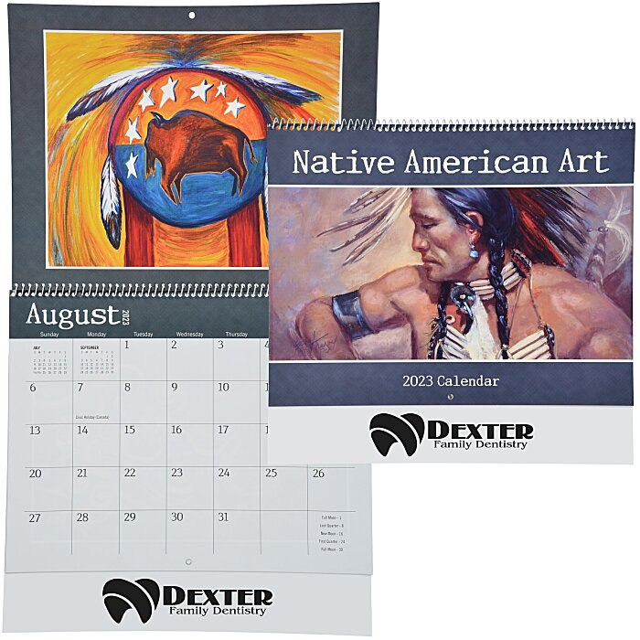 Calendar Art Questions : Imprint native american art calendar