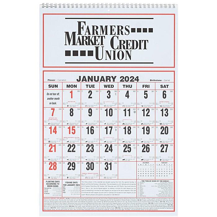 Almanac Calendar 2020 4imprint.com: Almanac Wall Calendar   17