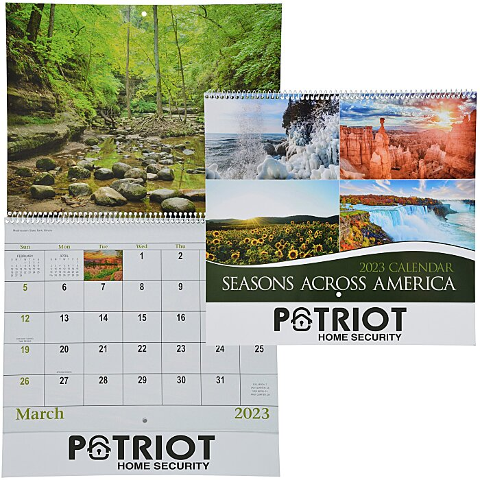 Book Cover Forros Zip Code : Imprint seasons across america calendar spiral