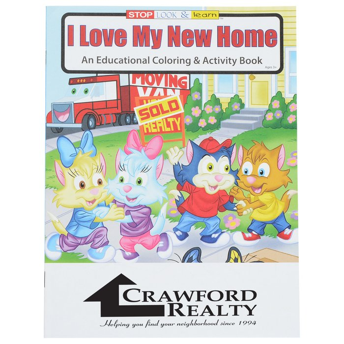 4imprint.com: I Love My New Home Coloring Book 1034-LNH