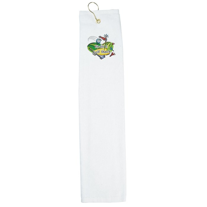 4imprint.com: Trifold Golf Towel - White - Embroidered ...