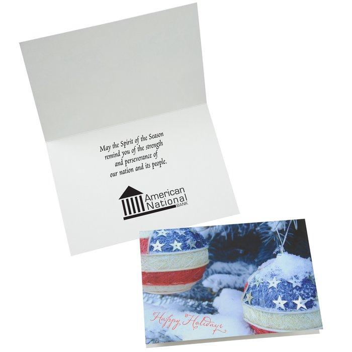 4imprint patriotic ornaments greeting card 125170 patriotic ornaments greeting card main image m4hsunfo