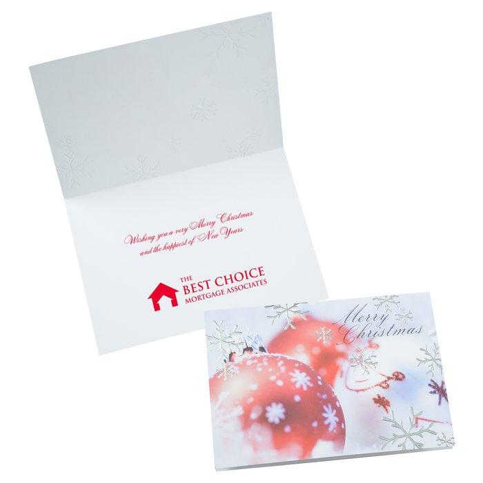 4imprint.com: Merry Christmas Ornaments Greeting Card 125260
