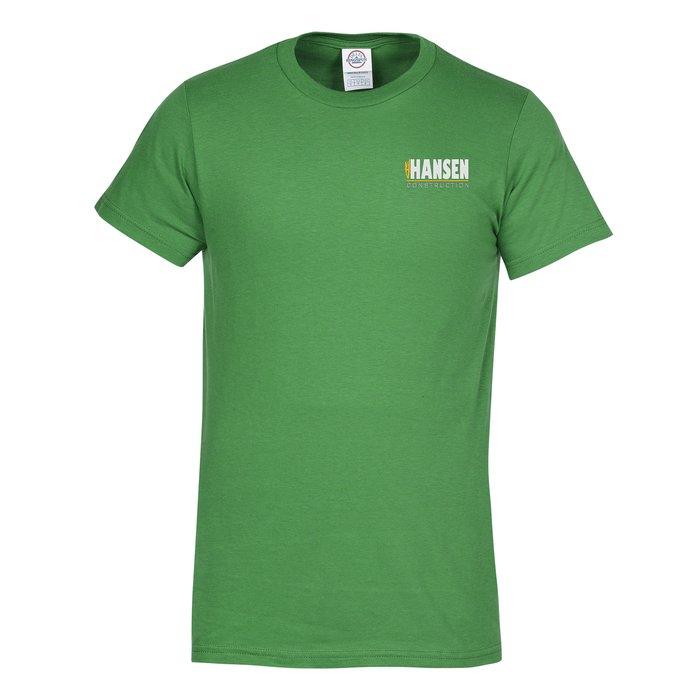 fd8cb707b 4imprint.com: Adult 4.3 oz. Ringspun Cotton T-Shirt - Embroidered 124633-E