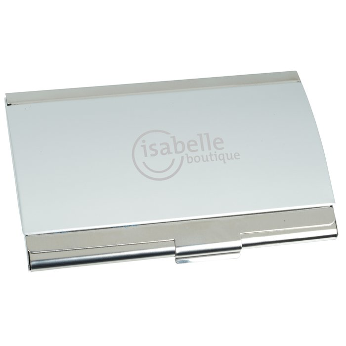 plata business card case 24 hr main image - Metal Business Card Case