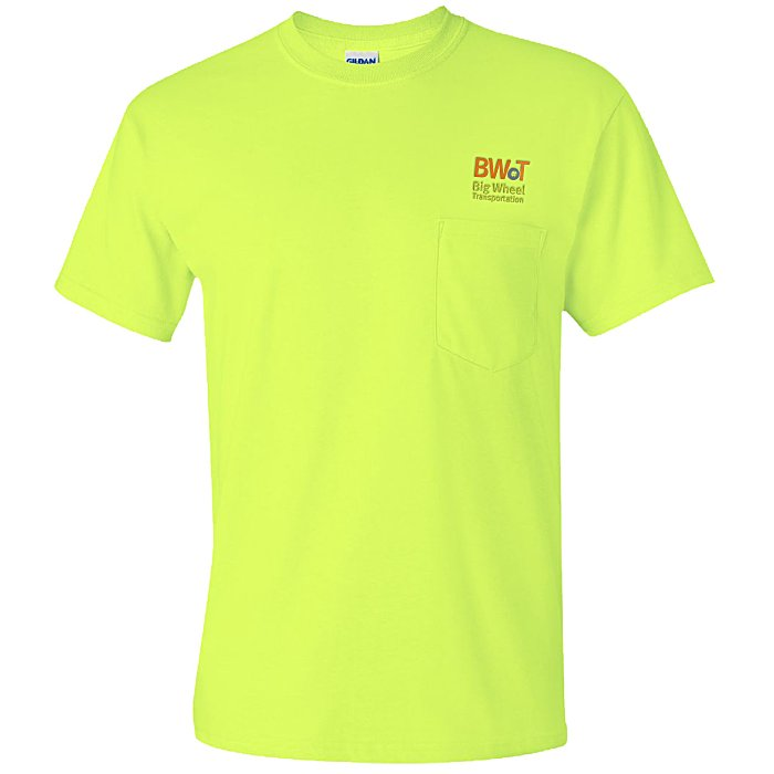 e12ae0676c1 4imprint.com  Gildan 6 oz. Ultra Cotton Pocket T-Shirt - Colors -  Embroidered 590-P-E-C