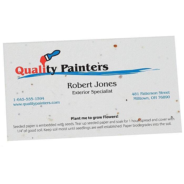 4imprint.com: Seeded Paper Business Card 125762