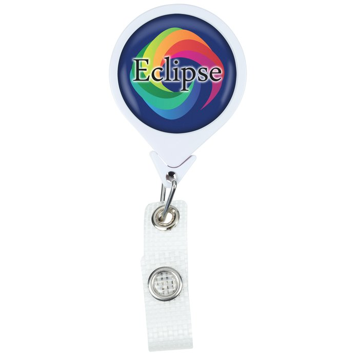 Antimicrobial Jumbo Retractable Badge Holder - 40