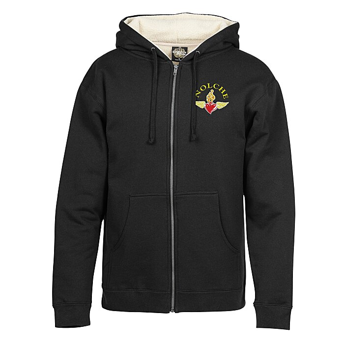 a28b1f48c 4imprint.com: Independent Trading Co. Sherpa Lined Full-Zip Hoodie -  Embroidered 127459-E
