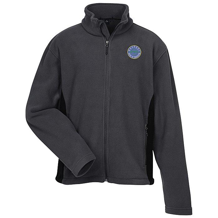 add20a5259d5 4imprint.com  Crossland Colorblock Fleece Jacket - Men s - 24 hr ...