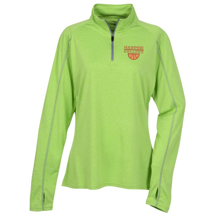 615f789b 4imprint.com: Taza 1/4-Zip Performance Pullover - Ladies' 128621-L