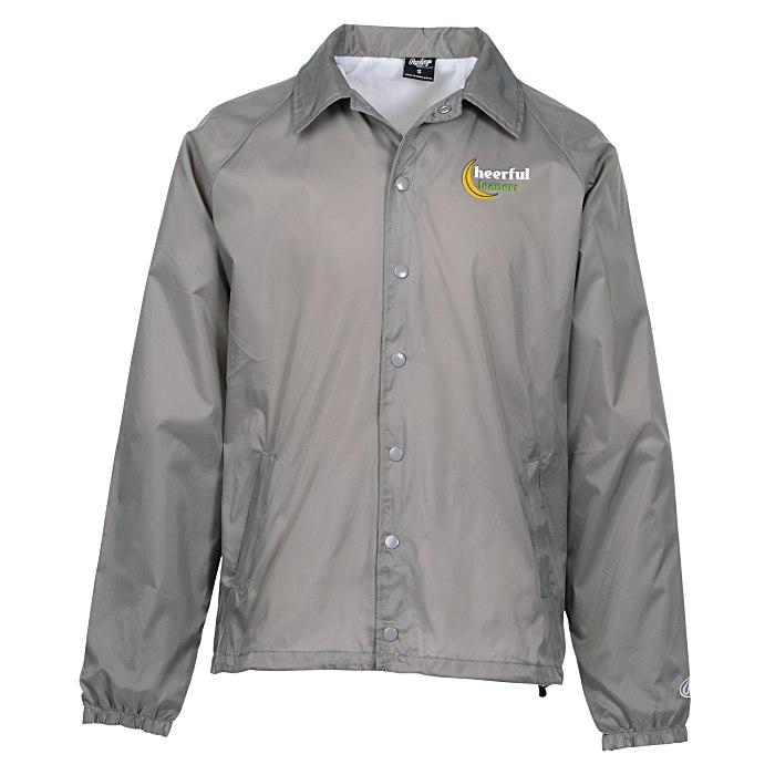 Imprint rawlings nylon coach s jacket embroidered