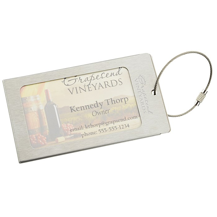 4imprint.com: Urban Business Card Luggage Tag 130766