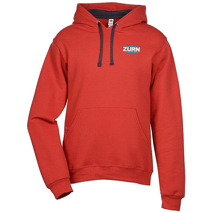 7a6bb30d 4imprint.com: Fruit of the Loom Sofspun Hooded Sweatshirt - Embroidered  131574-E