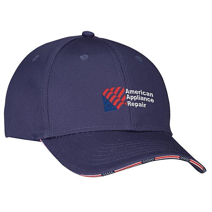 f32b6a262e5 4imprint.com  Patriotic Sandwich Bill Cap 132439