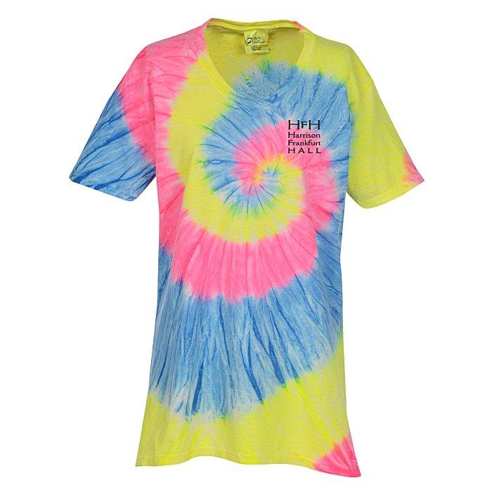 84137c55c 4imprint.com: Tie-Dye Swirl V-Neck T-Shirt - Ladies 132480-L