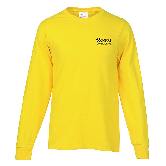 Soft Spun Cotton Long Sleeve T Shirt