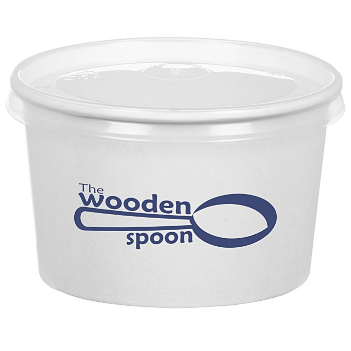 4imprintcom To Go Paper Food Container With Flat Lid 8 Oz