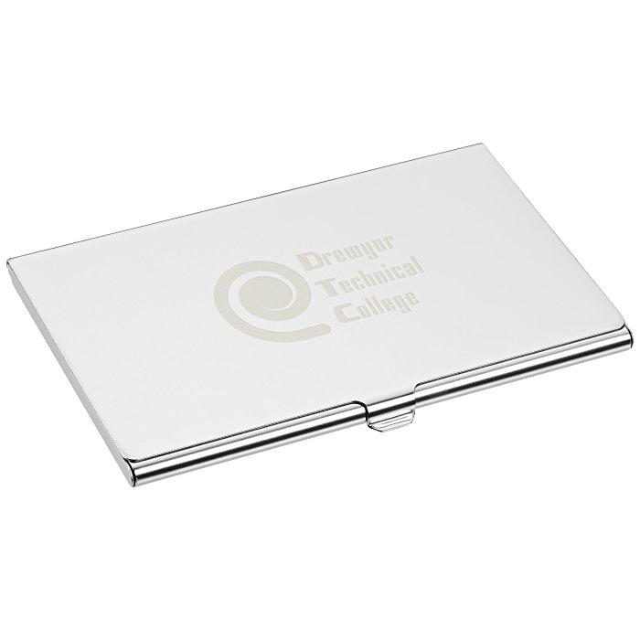 4imprint.com: Mirror Business Card Case - 24 hr 121597-24HR
