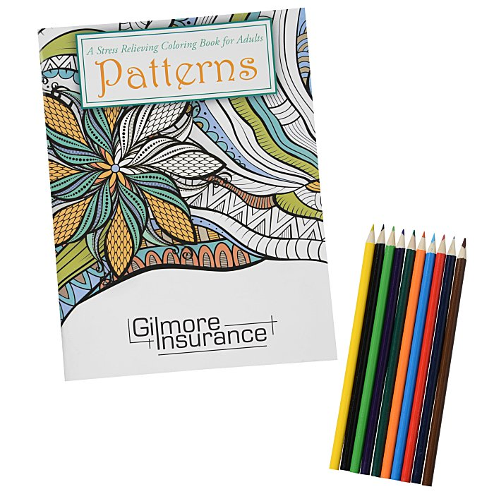 Stress Relieving Adult Coloring Book Pencils