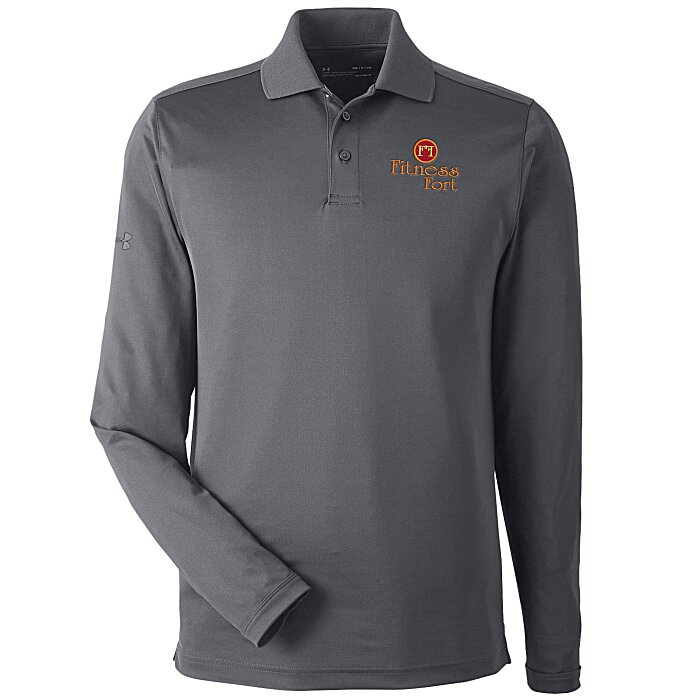 371a6d3c 4imprint.com: Under Armour Performance Long Sleeve Polo - Men's -  Embroidered 134150-M-LS-E