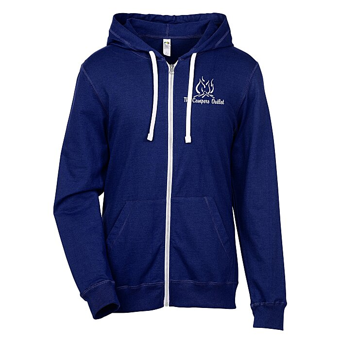 ad30061339be4f 4imprint.com: Fruit of the Loom Sofspun Jersey Full-Zip Hoodie ...
