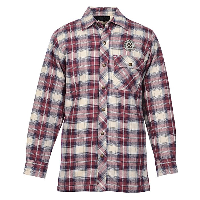 4imprint.com: Backpacker Flannel Shirt Jacket with Quilted Lining ... : quilted flannel shirt jacket - Adamdwight.com