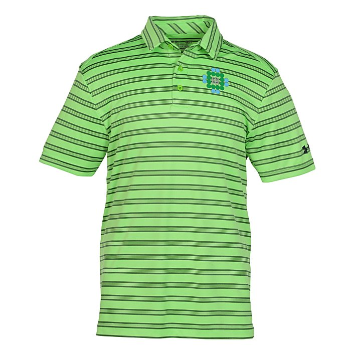 Under armour tech stripe polo men 39 s for Under armour embroidered polo shirts
