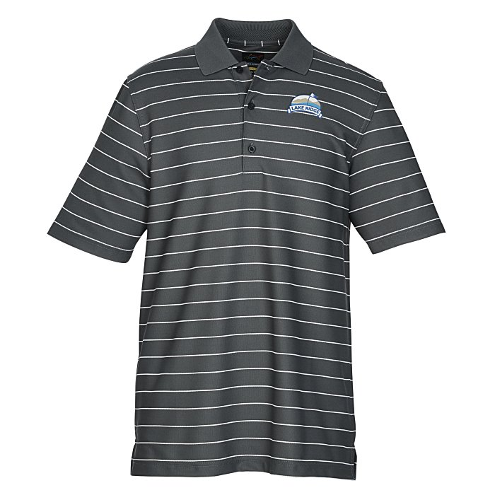 75c355a3 4imprint.com: Greg Norman Play Dry Performance Striped Mesh Polo 134794