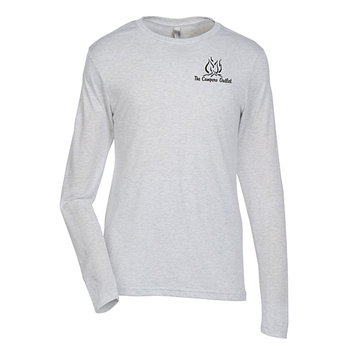 2bd8df59a68 4imprint.com  Next Level Tri-Blend LS Crew T-Shirt - Men s - White - Screen  114711-M-LS-S-W-S