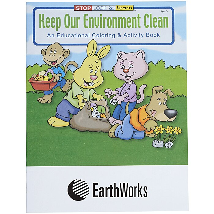 4imprint.com: Keep Our Environment Clean Coloring Book ...
