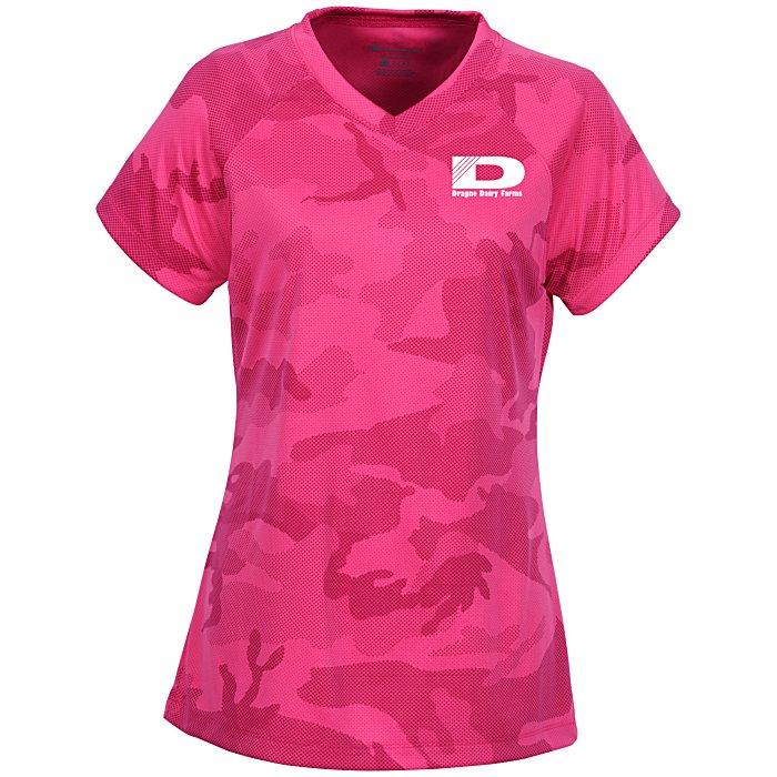 acf5879fc6b9 Champion Double Dry Performance T-Shirt - Ladies' - Camo Main Image