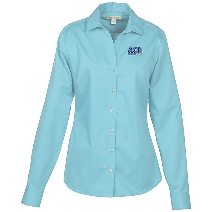Wrinkle free twill shirt ladies 39 136327 l for Wrinkle free shirts for women