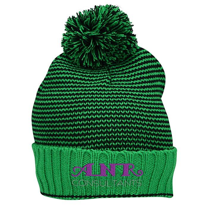 7f04b49d0ac 4imprint.com  Striped Yarn Cuffed Beanie 137260