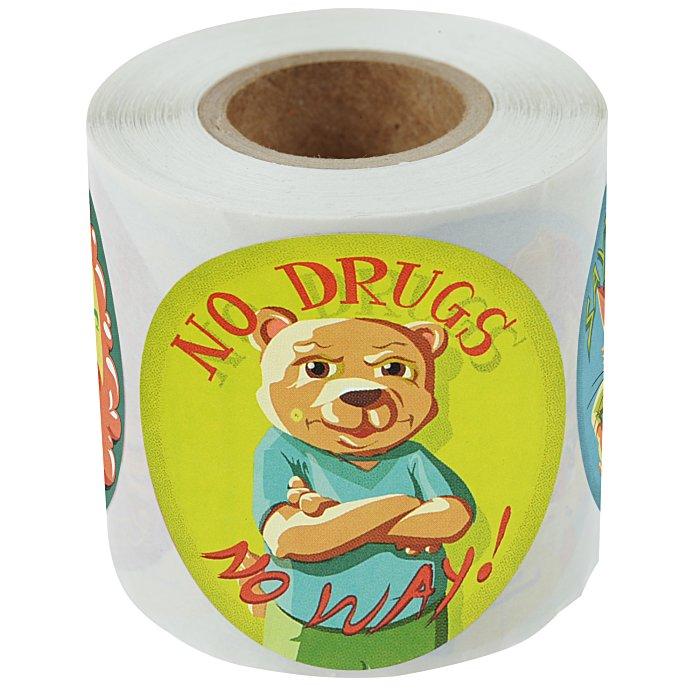 Fun Sticker Roll - Drug Free