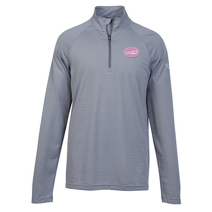 4imprint.com  Under Armour Corporate Stripe 1 4-Zip Pullover - Men s -  Embroidered 137666-M-E 09774b70e3af