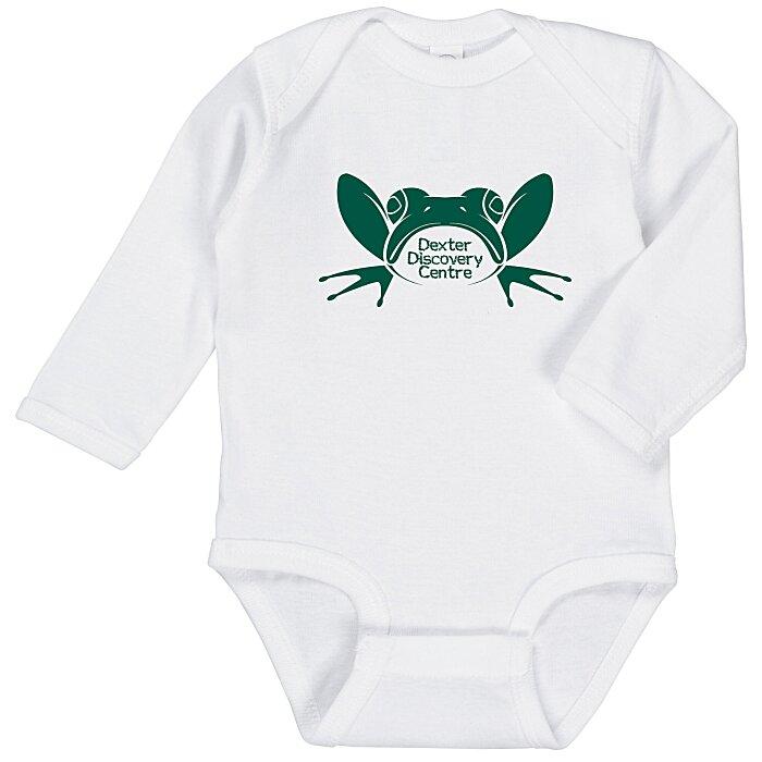 1aa67a691 4imprint.com  Rabbit Skins Infant Long Sleeve Onesie - White 137696-LS-W