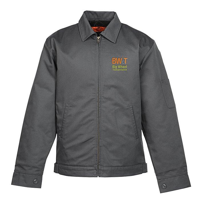 CUSTOM Embroidered Red Kap Slash Pocket Jacket