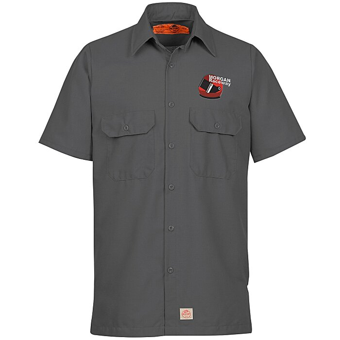 Red kap mechanic crew short sleeve shirt for Red kap mechanic shirts