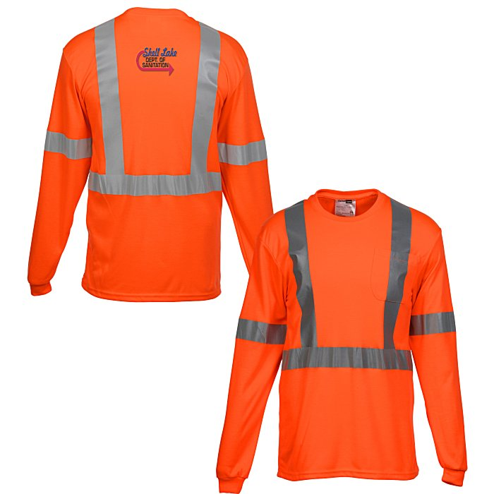 78f0fc20a 4imprint.com: High Visibility Long Sleeve Safety T-Shirt 134665-LS