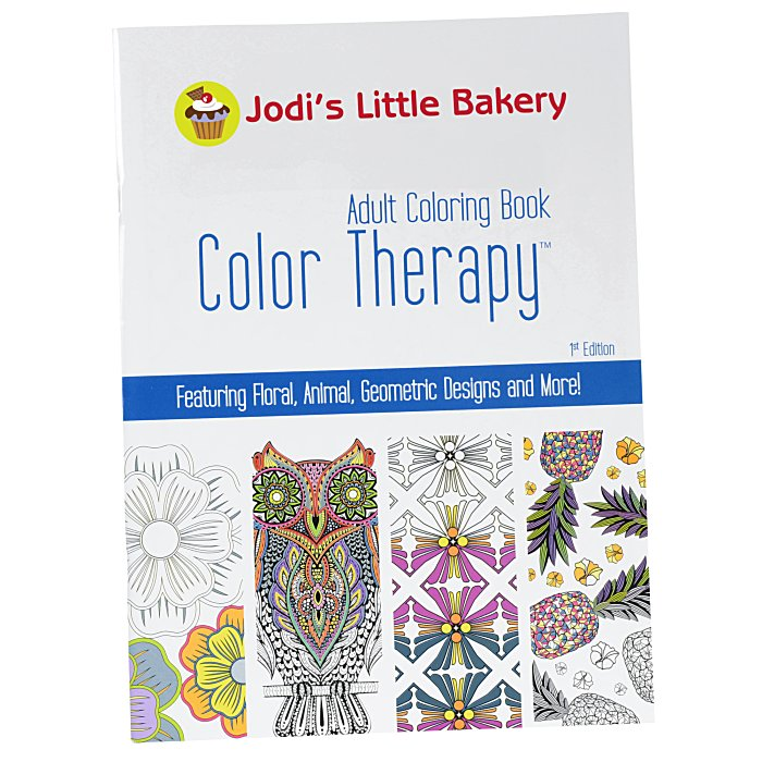 4imprint.com: Color Therapy Adult Coloring Book 138418