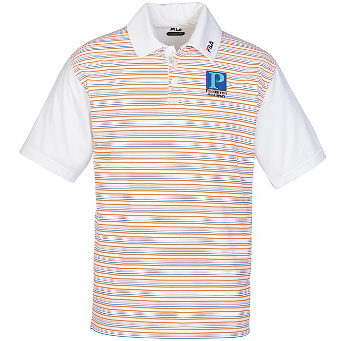 4imprint.com: FILA Cannes Striped Polo -