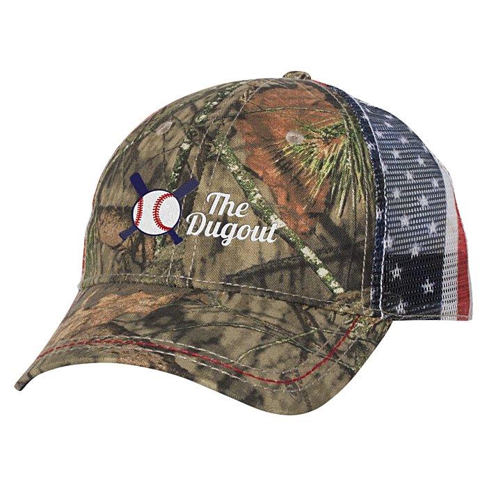be115e0523d 4imprint.com  Outdoor Cap American Flag Mesh Back Camo Cap 138627