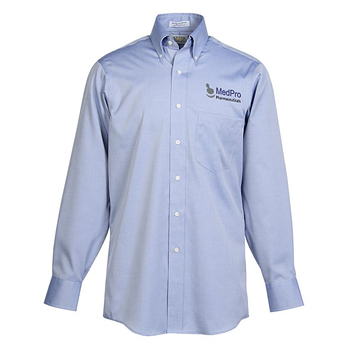 4imprint Com Eagle Pinpoint Oxford Shirt Men S 33 Sleeve 139556