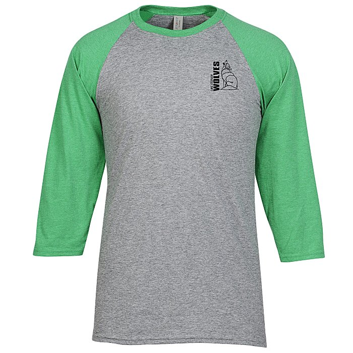 10abc25a 4imprint.com: Jerzees Dri-Power Tri-Blend Baseball T-Shirt - Screen 139758-S