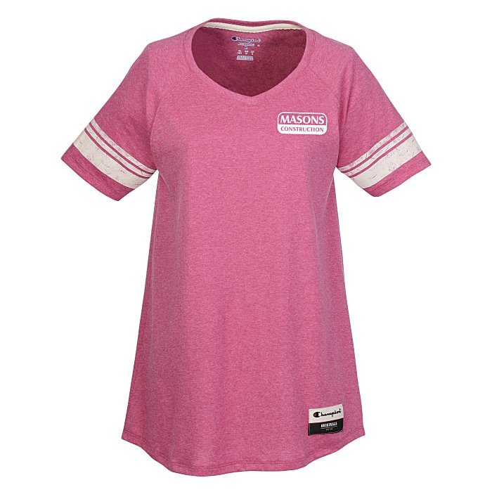 660e9e572486 4imprint.com  Champion Originals Tri-Blend Varsity Tee - Ladies  140189-L