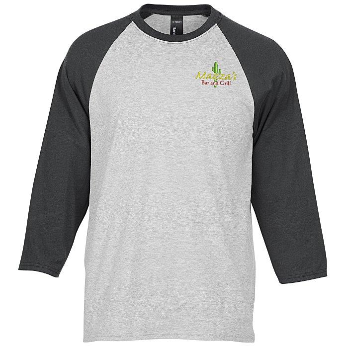 Hanes X Temp Performance Baseball T Shirt Screen