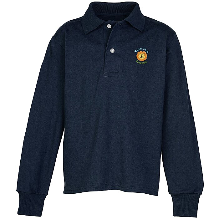 9077852d 4imprint.com: Jerzees SpotShield Jersey Knit LS Shirt - Youth 6443-Y-LS