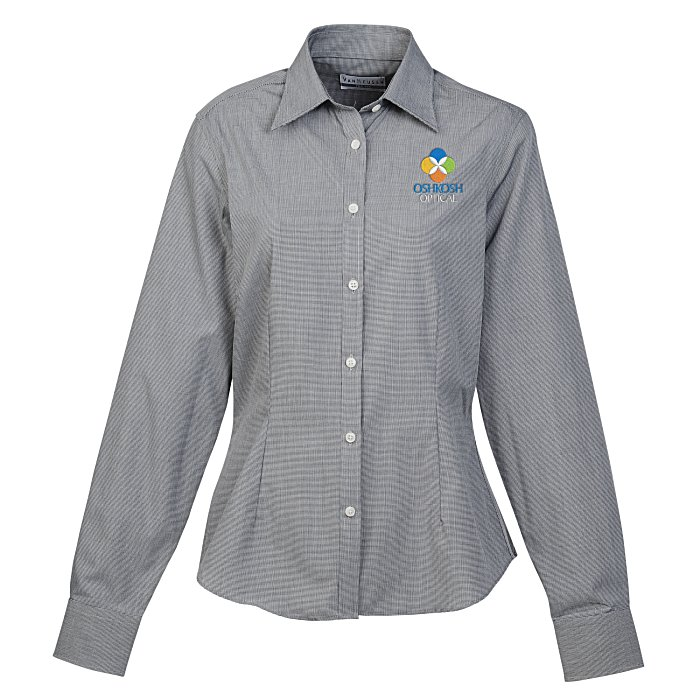 f2ae505c4edd 4imprint.com: Van Heusen Yarn-Dyed Mini Check Shirt - Ladies' 140208-L