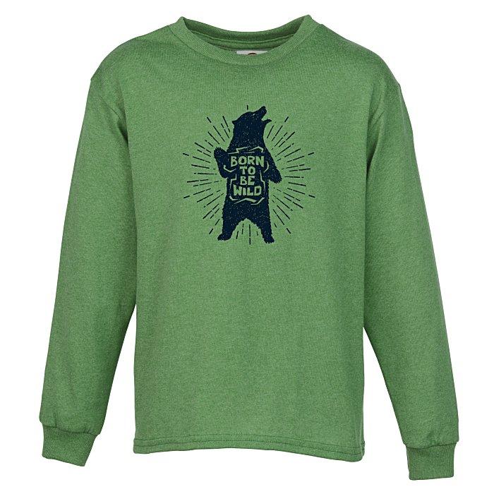 2650a82c1 4imprint.com  5.2 oz. Cotton Long Sleeve T-Shirt - Kids  - Screen ...
